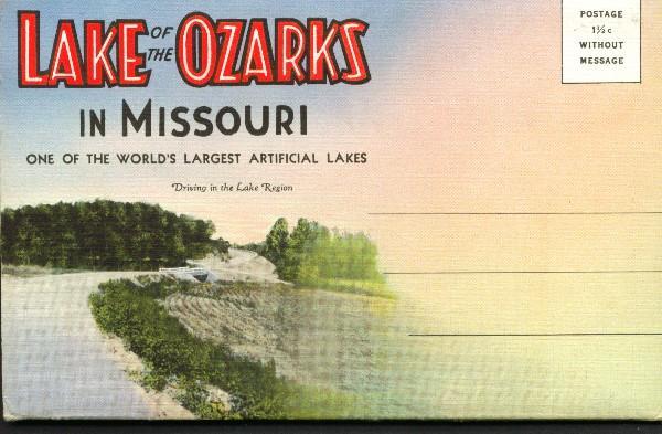 Souvenir Folder of Lake of the Ozarks Missouri