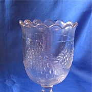Early American Pattern Glass Barberry Spooner