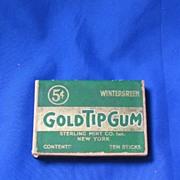 Green Gold Tip Wintergreen Gum Box