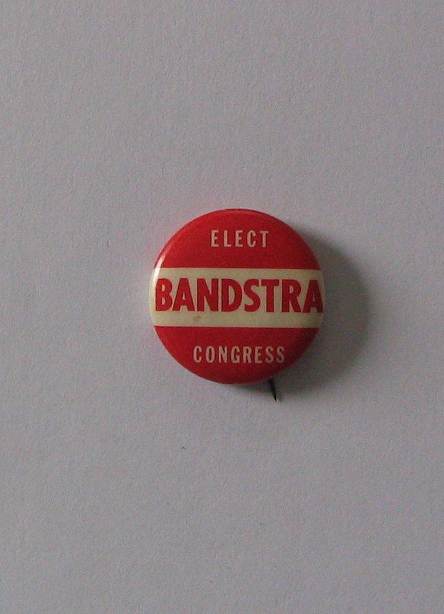 Bert Andrew Bandstra for US Congress - pinback