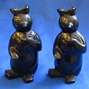 1950s Plastic Millies Penguins Salt and Pepper Shakers