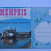 Chrome Souvenir Folder of Memphis Tennessee