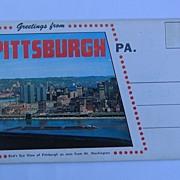 Chrome Souvenir Folder Greetings from Pittsburgh Pennsylvania