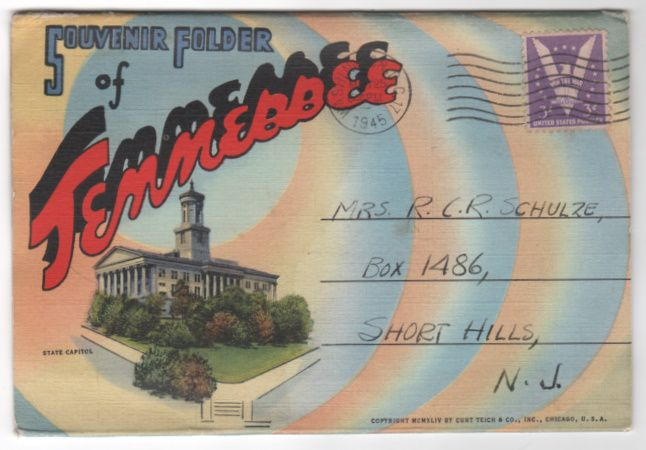 Souvenir Folder of Tennessee