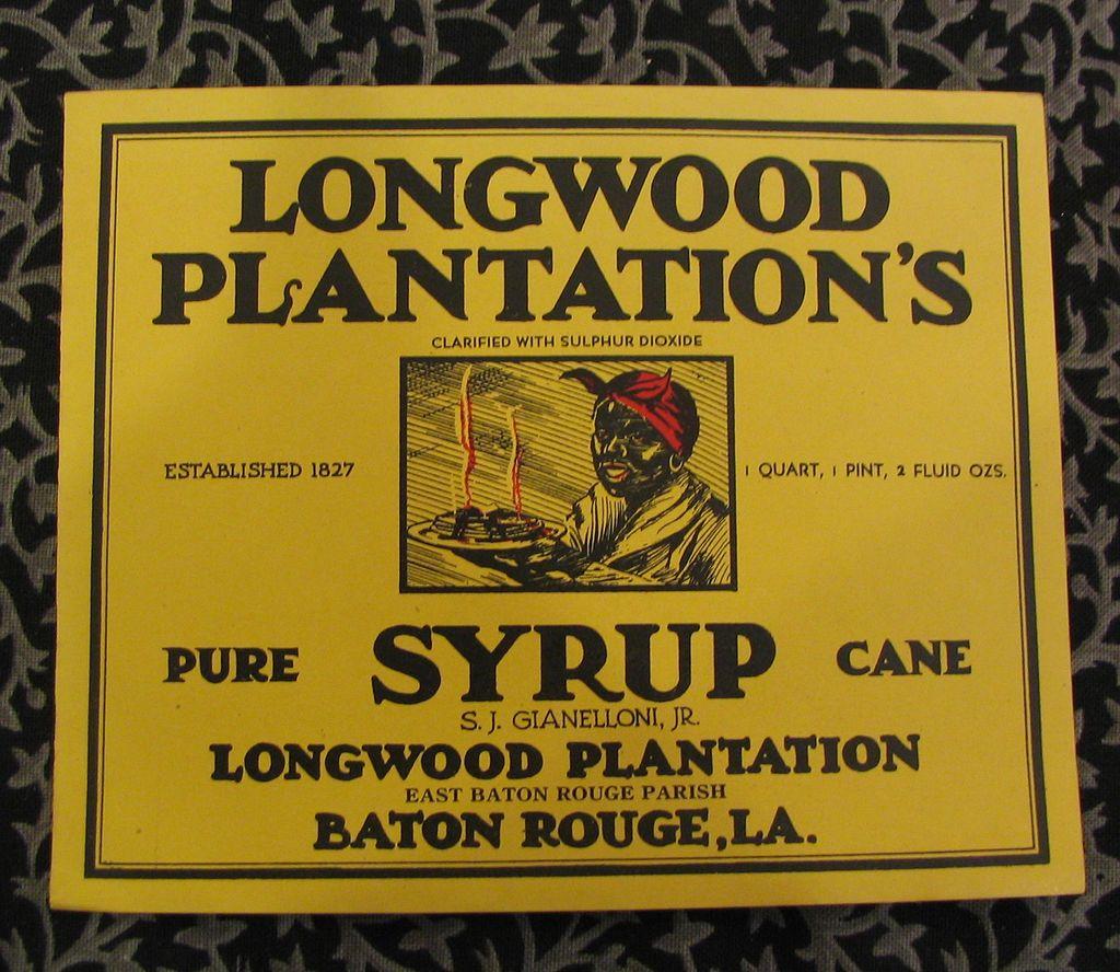 Longwood Plantation's Pure Cane Syrup Label