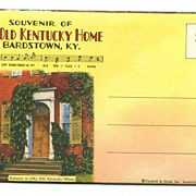 Souvenir of My Old Kentucky Home Bardstown Kentucky Postcard Views