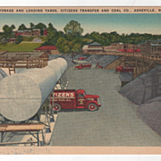 Storage and Loading Yards Citizens Transfer and Coal Co Asheville NC North Carolina Vintage Postcard