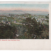 Asheville NC North Carolina from Overlook Park Vintage Postcard - Red Tag Sale Item
