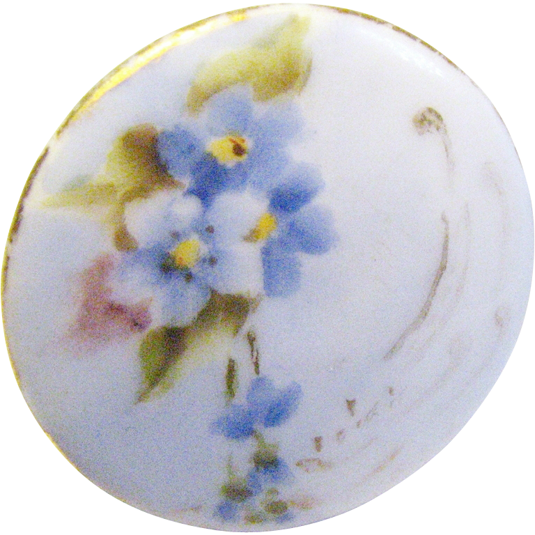 Antique Victorian Ladies Porcelain Shirt / Collar Button 1840 to 1890