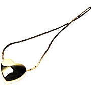 Polished Golden Floating Heart Necklace by Napier