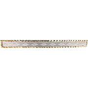 Antique 14K Gold and Platinum Engraved Bar Pin with Charles Keller & Co. Trade Mark