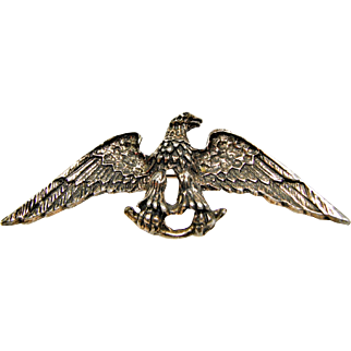 Figural Patriotic American Eagle Brooch or Pin