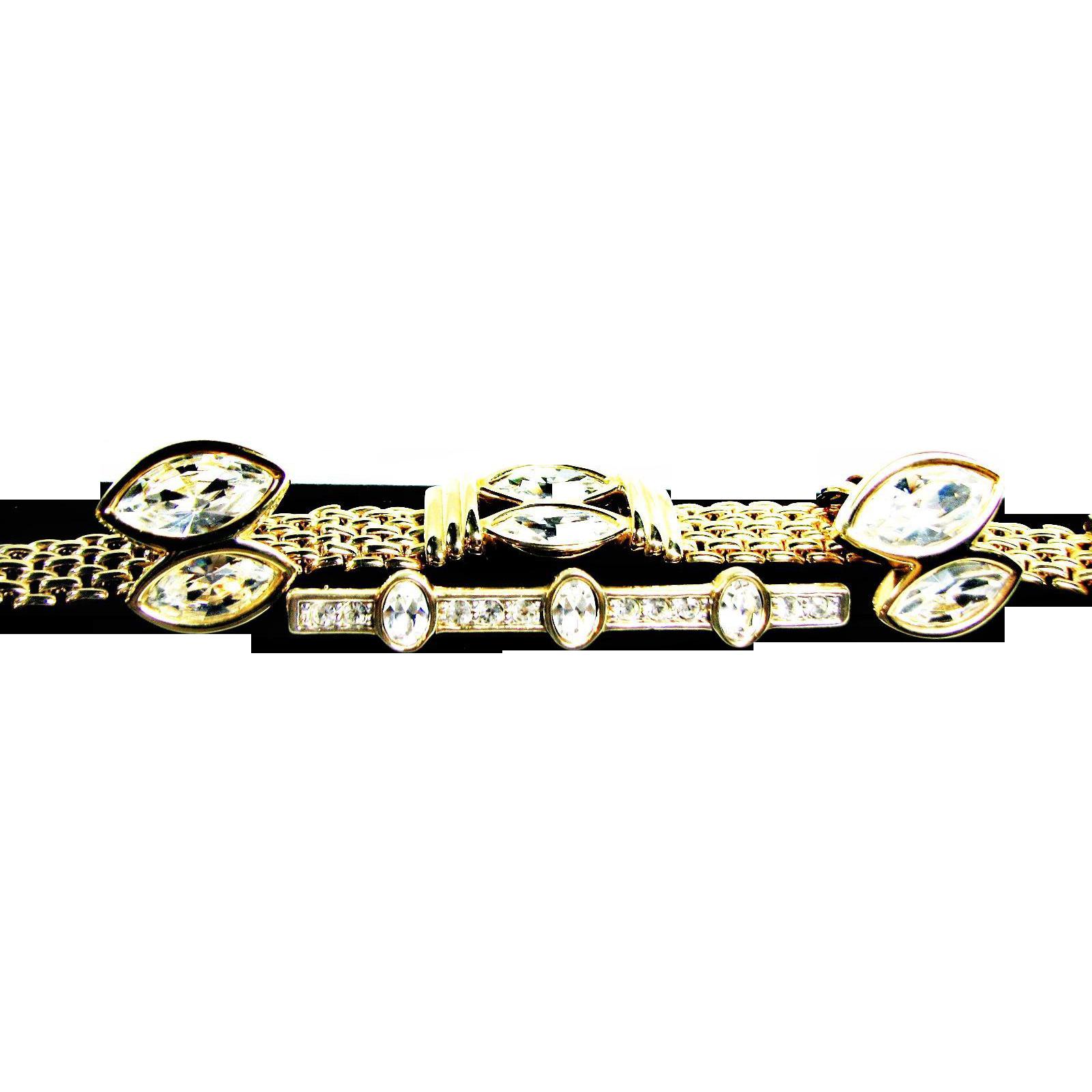 Early Swarovski S.A.L. Mark Demi Parure Bracelet, Earrings and Brooch