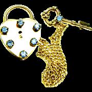 40s 12K Gold Filled Lock N Key Sweetheart Sweater Pin
