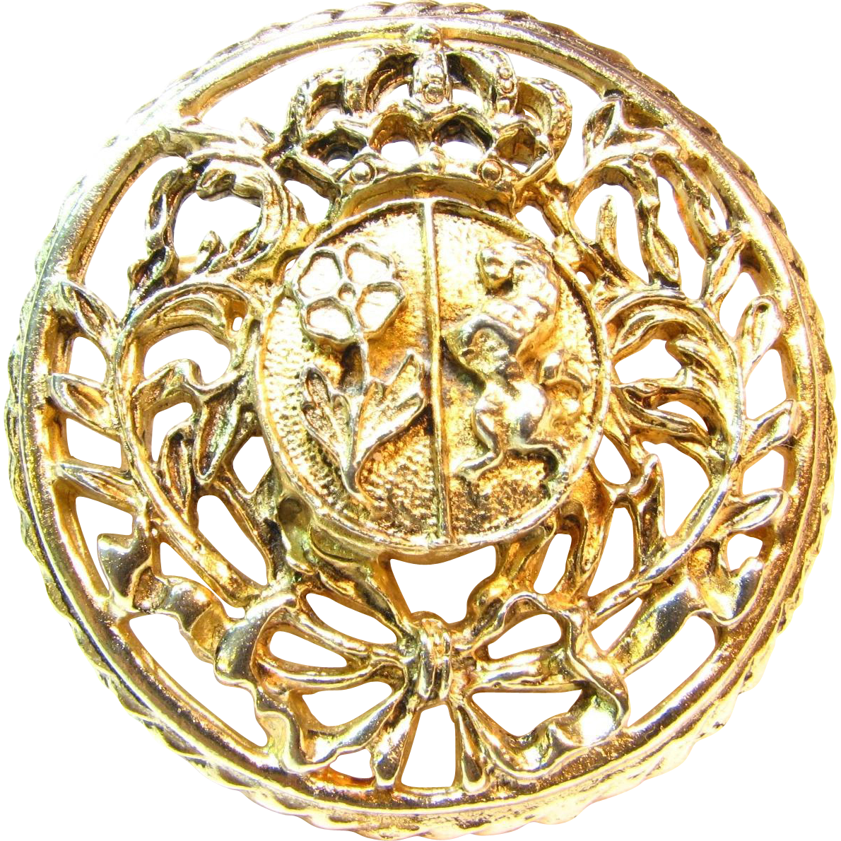 Pre -1955 Signed Heraldic Brooch by Coro