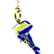 Vintage Evinrude Boat Motor Advertising Keychain Made In Germany