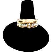 Vintage Avon Eternity Ring Set with Ring Guard