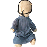"Antique Amish 15"" Rag/Cloth Doll, PA"