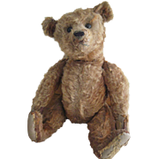 "Antique Cinnamon Steiff 16"" Bear, Loved Cecil"