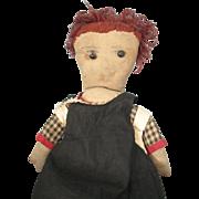 "Early Handmade 17"" Raggedy Ann Cloth/Rag Doll"