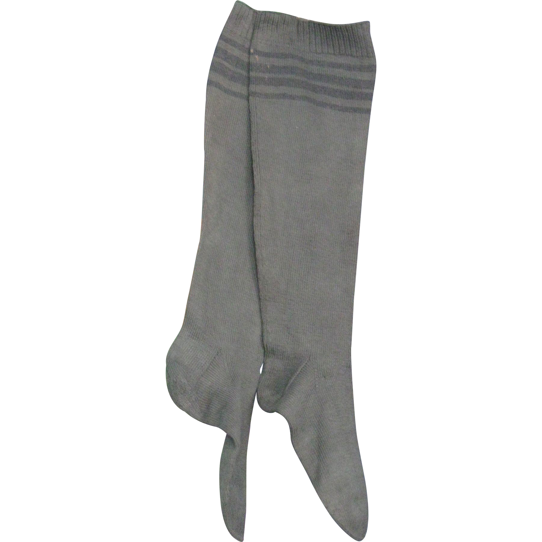Antique Amish Adult Stockings, Dark Green