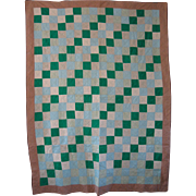Vintage Mennonite/Amish Graphic Irish Chain Quilt