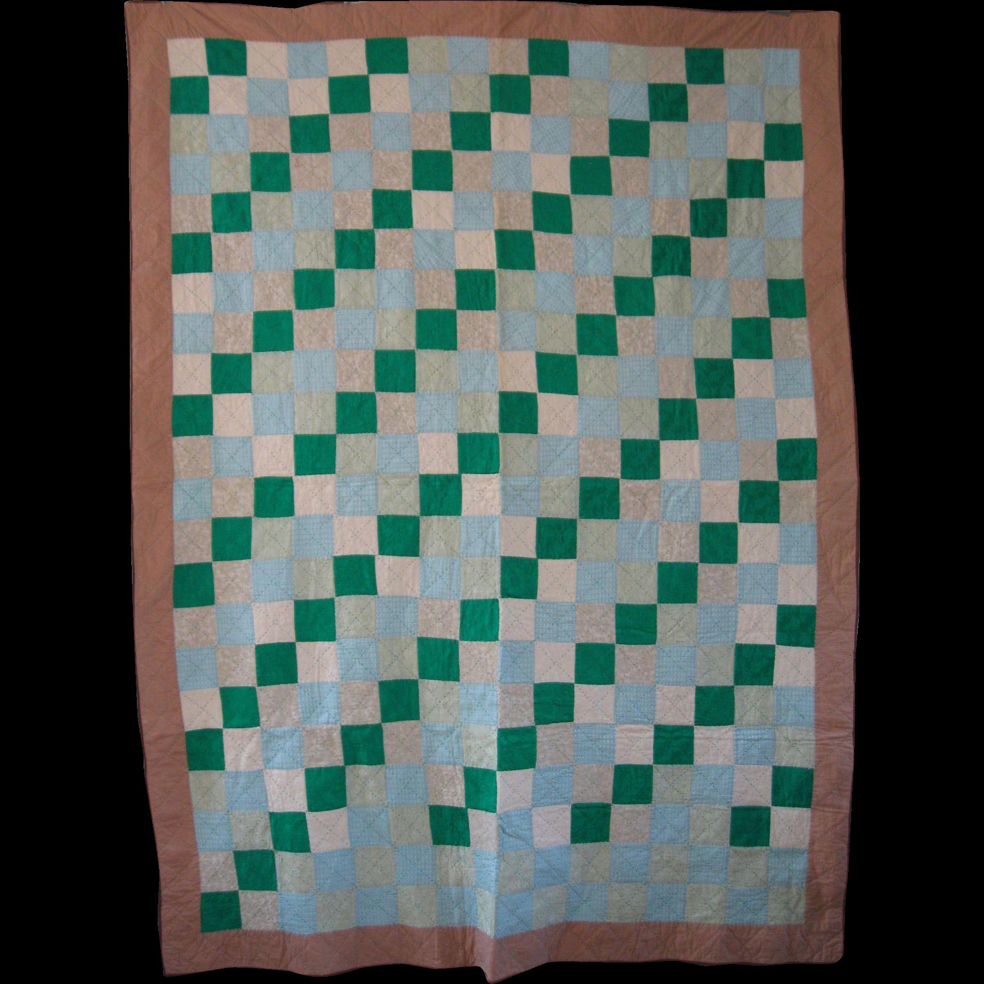 Vintage Mennonite/Amish Graphic Irish Chain Quilt