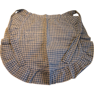 Early Child's Blue Homespun Linen Apron, PA