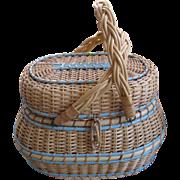 Vintage Kavli, Handmade Amish Diaper Basket