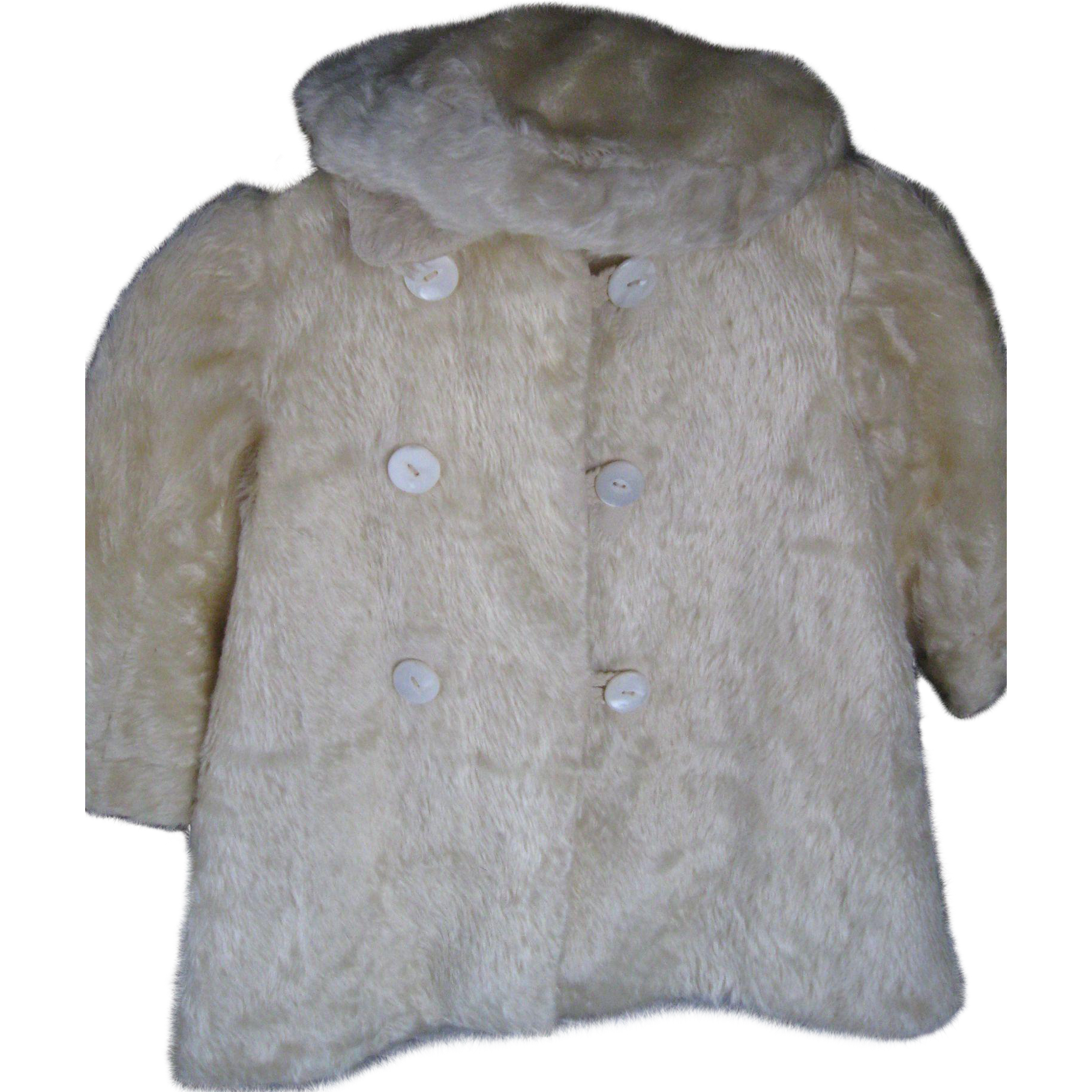 Antique Child's Mohair Coat and Hat for Doll/Bear