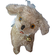Fluffy Vintage Small Stuffed Mohair Dog