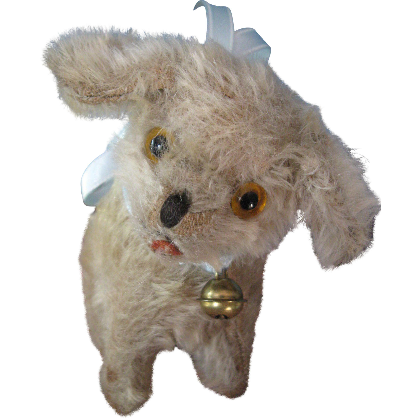 Fluffy Vintage Small Stuffed Mohair Dog