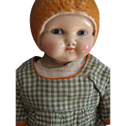 Rare, 1924 Amberg Sunny Orange Maid Doll