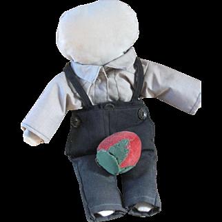 "Vintage Amish Doll 13"" Rare Boy, Berne, IN"
