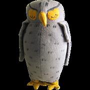 Vintage Agnes Brush Owl c 1950, Pooh Bear's Friend