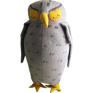 Vintage Agnes Brush Owl c 1950, Pooh Bear's Friend