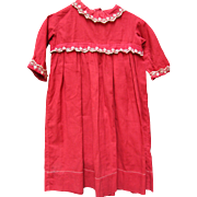 Antique Child's Red  Gown