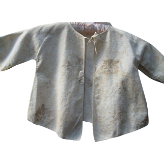 Early Children's Cat Print Flannel Jacket c 1900