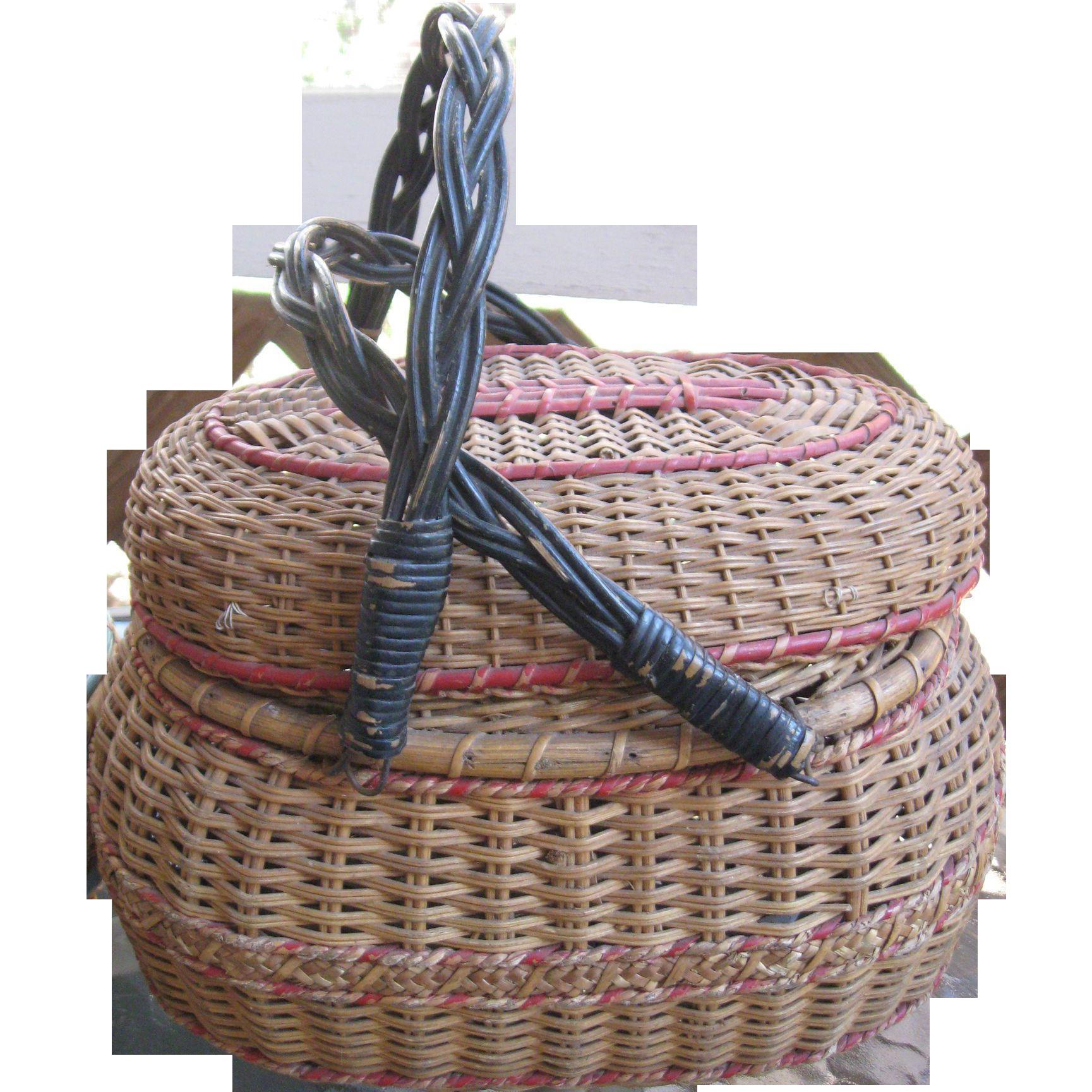 Handmade Baskets In Pa : Antique amish folk art basket kavli lancaster pa from