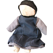 """Vintage Amish Cloth Doll 12"""", Midwest"""