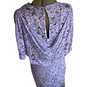 Vintage 1930's Purple Bias Lace Gown