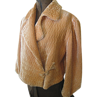 Vintage 30's Silk Velvet Boudoir Jacket