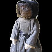 Vintage Southern Folk Art Apple Doll