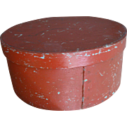 Antique Pantry Box, Nice Red Paint