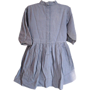 Vintage Amish Child's Blue Dress/Grey Apron, Indiana