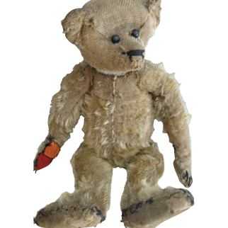 """Antique American Ideal 13"""" Bear, Loved Ted"""