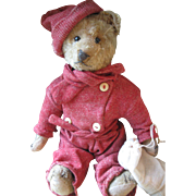 """Antique American 14"""" Ideal Bear, Dressed"""