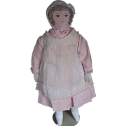 "Vintage Moravian 18"" Folk Art Fund-raising Cloth Doll, PA"