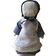 """Vintage Oilcloth 8"""" Amish Doll"""