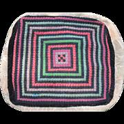 Vintage Amish Folk Art Cushion Cover